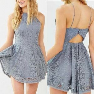 Kimchi blue Lorraine lace skater dress Medium